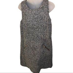 LOFT Heather Wool Shift Dress